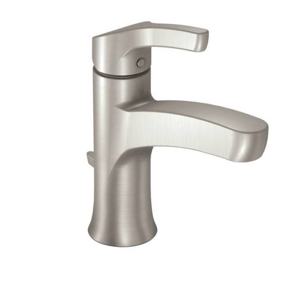 Moen Danika Single-Handle Spot Resistant Brushed Nickel Bathroom Faucet