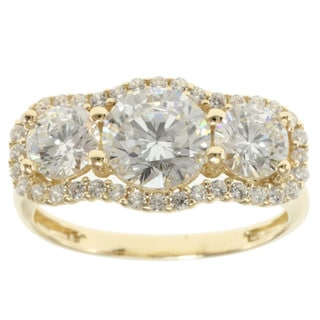 Michael Valitutti Signity 14k Yellow Gold and Cubic Zirconia Ring