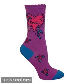 Betsey Johnson Women's Stamp Crew Socks