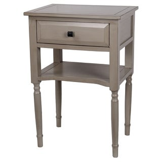 Wooden One (1) Drawer Cream Accent Stand