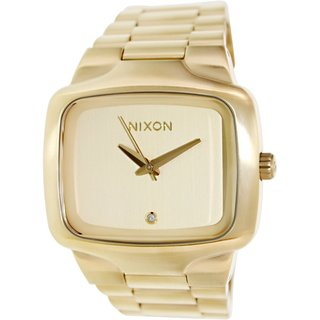 Nixon Men's A487502 Big Player Gold Stainless-Steel Quartz Watch with Gold Dial