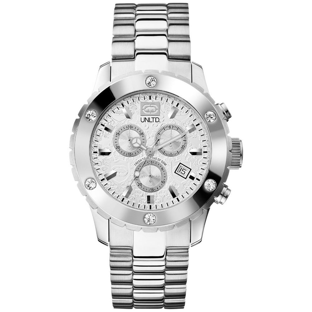 Marc Ecko Men's UNLTD E16587G2 Silver Stainless-Steel Quartz Watch with Silver Dial at Sears.com