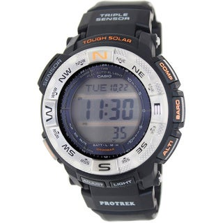 Casio Men's Protrek PRG260-1 Black Rubber Quartz Watch with Digital Dial