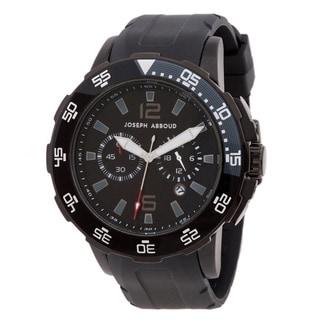 Joseph Abboud Men's Rotating Bezel Rubber-strap Watch