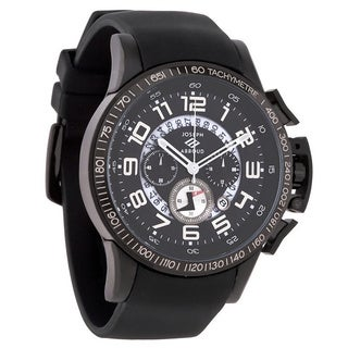 Joseph Abboud Men's Black Rubber Watch