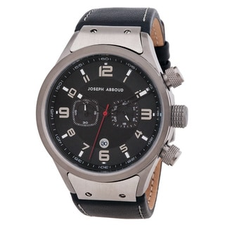 Joseph Abboud Men's Black Leather Watch