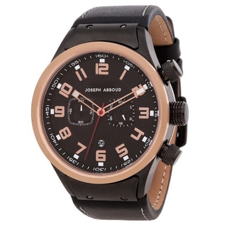 Joseph Abboud Men's Brown Leather Quartz Watch