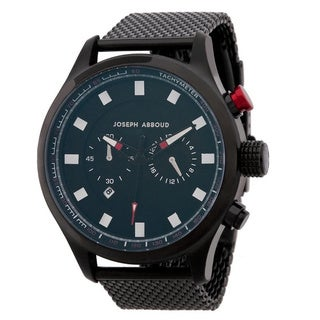 Joseph Abboud Men's Black Stainless Steel Watch