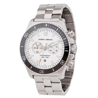 Joseph Abboud Men's Off-white Dial Stainless Steel Watch