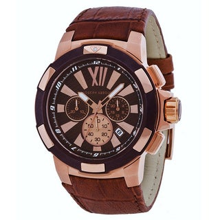 Joseph Abboud Men's Black Dial Brown Leather Watch