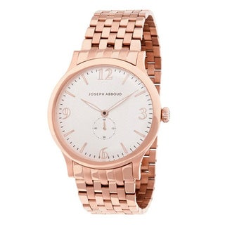 Joseph Abboud Men's Rose Goldtone Stainless Steel Watch