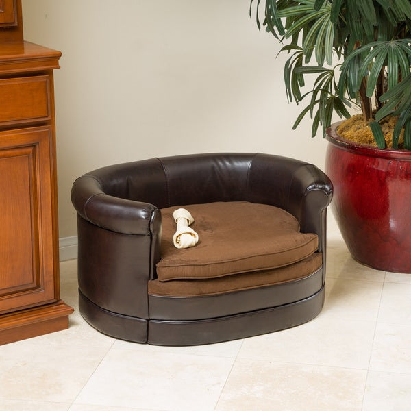 Christopher Knight Home Doggerville Oval Cushy Dog Sofa