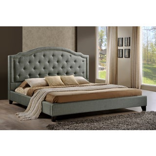 LuXeo Brentwood Tufted Upholstered Contemporary Platform Bed