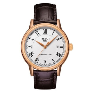 "Tissot Men's T0854073601300 ""Carson"" Powermatic Rose Gold PVD Watch"