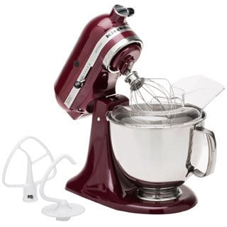 KitchenAid KSM150PSBX Bordeaux 5-quart Artisan Tilt-head Stand Mixer **with $50 Rebate**