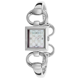 Gucci Women's YA120517 Tornabuoni Mother of Pearl Dial Stainless Steel Watch