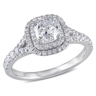 Miadora 14k White Gold 1 1/2ct TDW Diamond Engagement Ring (H-I, SI1-SI2)