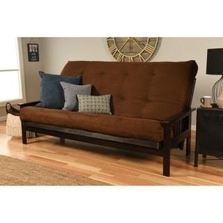 Monterey Hardwood / Suede Queen Size Futon Sofa Bed