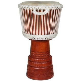 X8 Drums Ivory Elite Professional Carved Full Size Djembe (Indonesia)