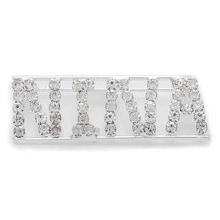 Detti Originals SilverPind 'NINA' Crystal Name Pin