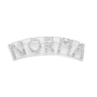 Detti Originals SilverPind 'NORMA' Crystal Name Pin