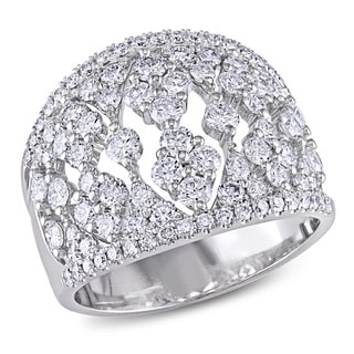 Miadora Signature Collection 18k White Gold 2ct TDW Diamond Cocktail Ring (G-H, SI1-SI2)