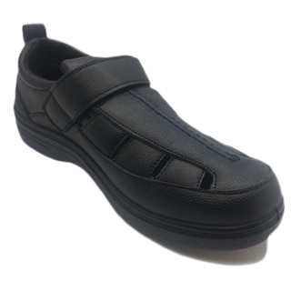 Men's Slip-resistant Black Work Shoes