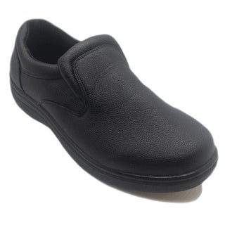 Men's Slip-resistant Black Slip-on Work Shoes
