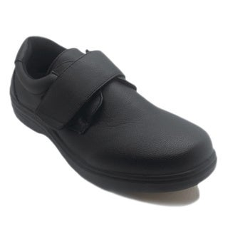 Men's Slip-resistant Black Oxford Work Shoes