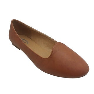 Women's Faux Leather Brown Flats