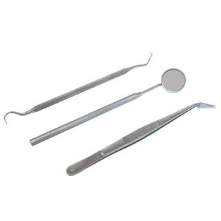 Defender Stainless Steel 3-piece Dental Instruments Set