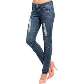 Feellib Junior's Studded Skinny Fit Denim Jeans