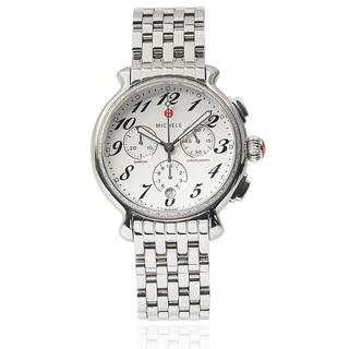 Michele Women's Stainless Steel 'Fluette Diamond' 3/8ct TDW Chronograph Watch
