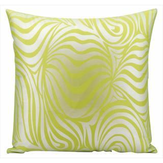 Nourison Mina Victory 18-inch Green Swirl Indoor/ Outdoor Throw Pillow