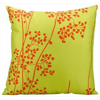 Nourison Mina Victory Green Floral Indoor/ Outdoor 20-inch Throw Pillow