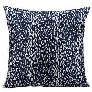 Nourison Mina Victory Navy Leopard Print Indoor/ Outdoor 20-inch Throw Pillow
