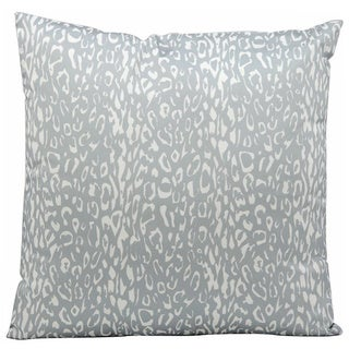Nourison Mina Victory Grey Leopard Print Indoor/ Outdoor 20-inch Throw Pillow