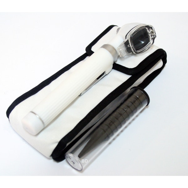Defender White Mini Pocket Fiber Optic Otoscope Medical ENT Diagnostic Set