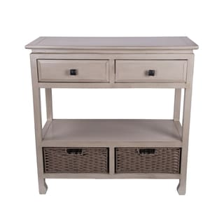 Cream 2-drawer 2-basket Stand