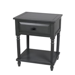 Grey Wash 1-drawer Accent Stand