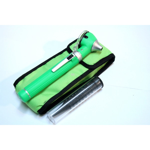 Defender Green Mini Pocket Fiber Optic Otoscope Medical ENT Diagnostic Set