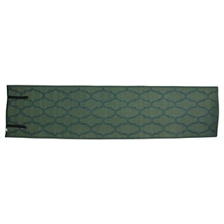 Christopher Knight Home Homesuite Outdoor Honeycomb Dark Green Runner Rug (2' x 8')