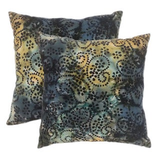 Cotton Batik Night 20-inch Throw Pillows (Set of 2)