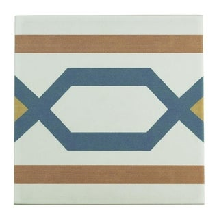 SomerTile 7.75x7.75-inch Renaissance Frame Ceramic Floor and Wall Tile (Case of 25)