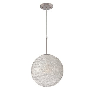 Lite Source Icy 1-light Polished Steel Pendant