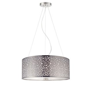 Lite Source Neoma 3-light Polished Steel Pendant