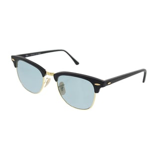 Ray-Ban Clubmaster Polarized Sunglasses 51mm - Matte Black Frame/Polar Sky Blue Lens
