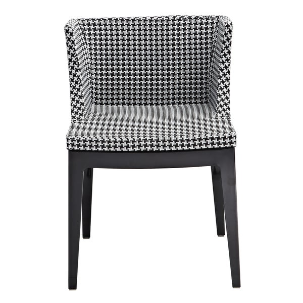 Houndstooth Fabric Cumberland Chair