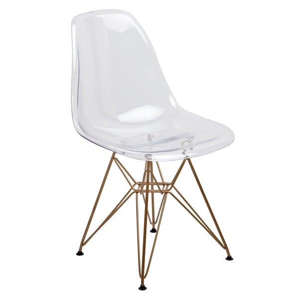 American Atelier Living Clear Seat Gold Legs Banks Chair  16398694  Overstockcom Shopping - Acrylic Dining Room Set