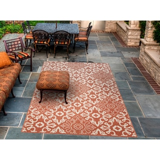 Meticulously Woven Olivia Contemporary Geometric Indoor/Outdoor Area Rug (3'6 x 5'6)